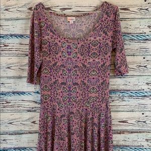 EUC Pink Lularoe Nicole A line Dress Sz M 10 12